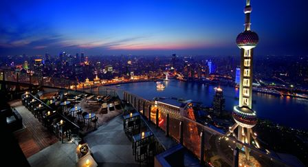 リッツカールトン浦東FLAIR|上海一外灘の夜景が綺麗なバー・レストラン