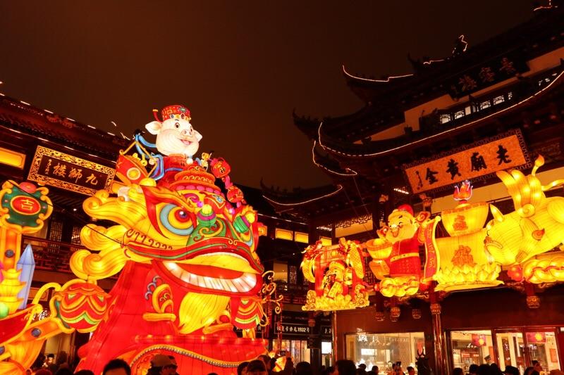 上海豫園ランタンフェスティバル|春節から元宵節に開催する灯会祭